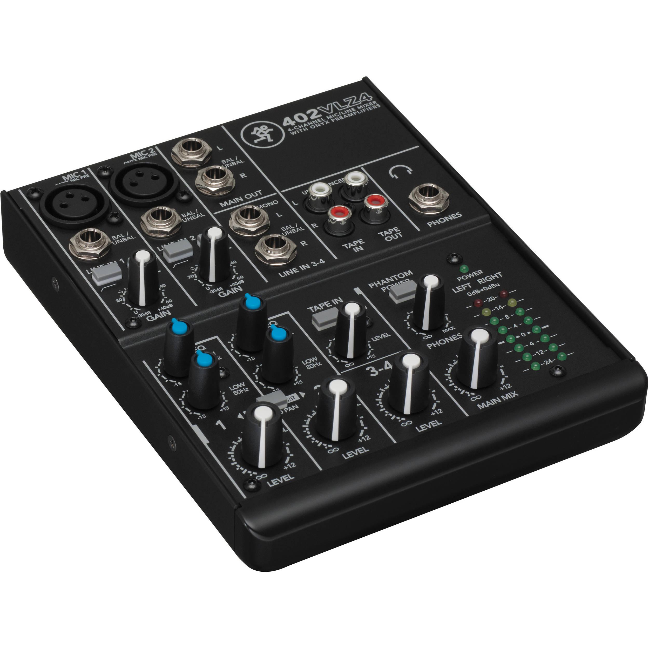 Mackie 402 Vlz4 4 Channel Mixer Orange Audio